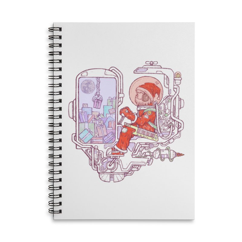 Santa space suits Accessories Lined Spiral Notebook by makapa's Artist Shop