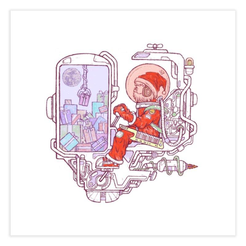 Santa space suits Home Fine Art Print by makapa's Artist Shop