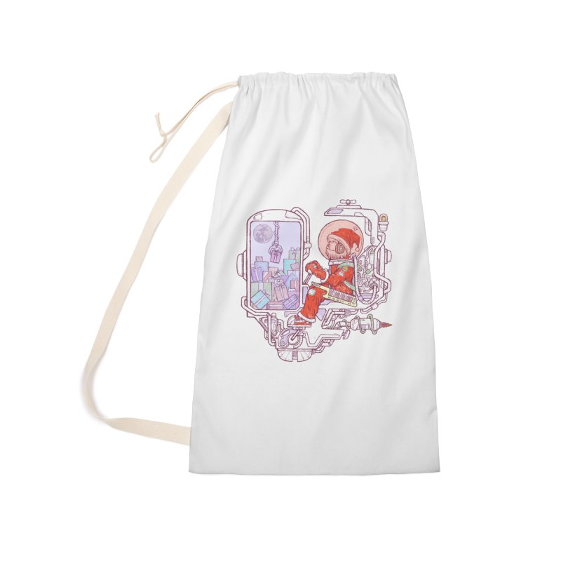 Santa space suits Accessories Laundry Bag Bag by makapa's Artist Shop