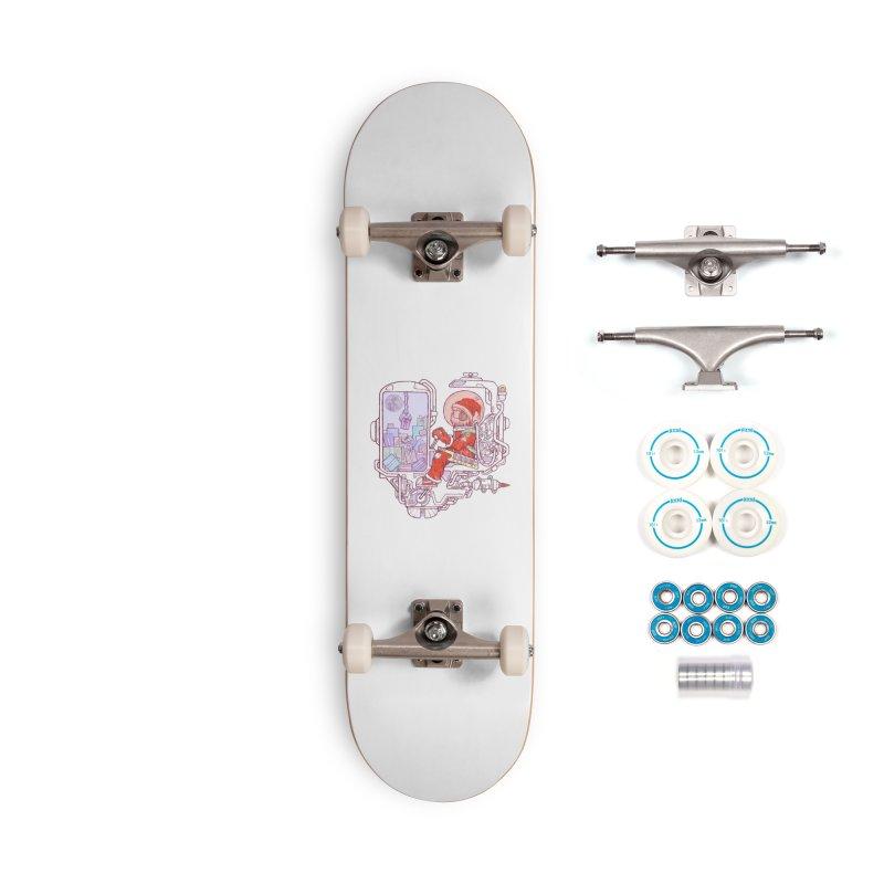Santa space suits Accessories Skateboard by makapa's Artist Shop