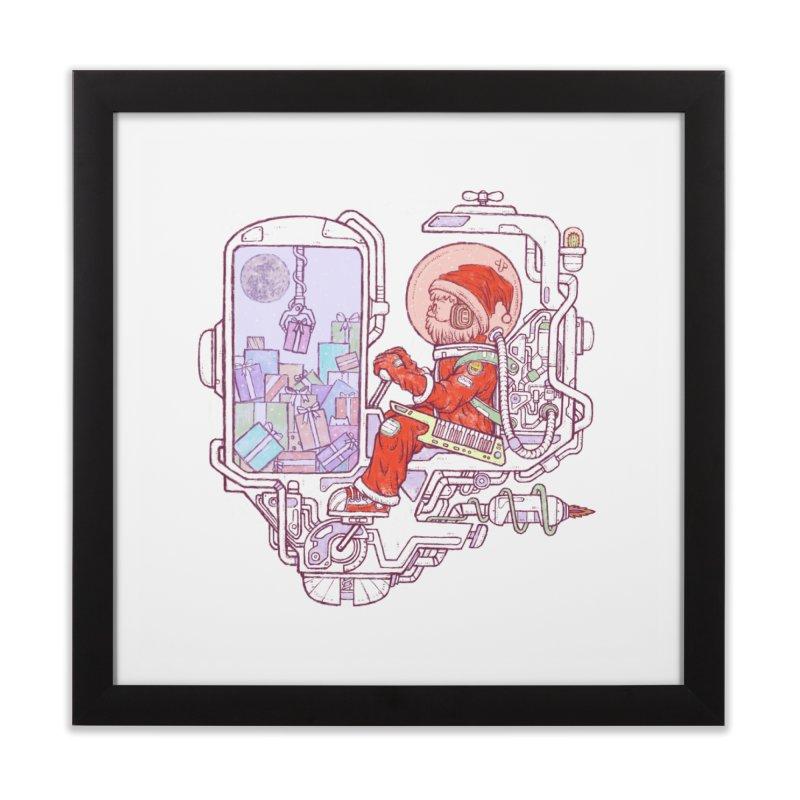 Santa space suits Home Framed Fine Art Print by makapa's Artist Shop
