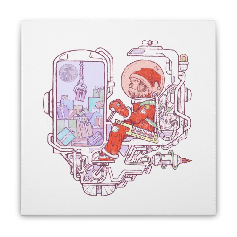 Santa space suits Home Stretched Canvas by makapa's Artist Shop