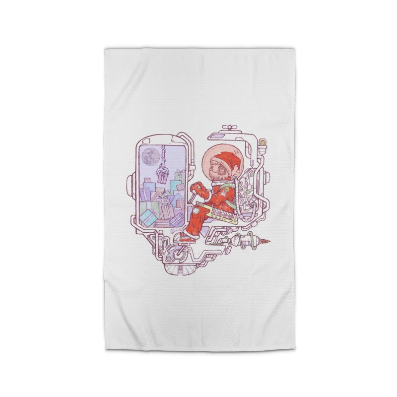 Santa space suits Home Rug by makapa's Artist Shop