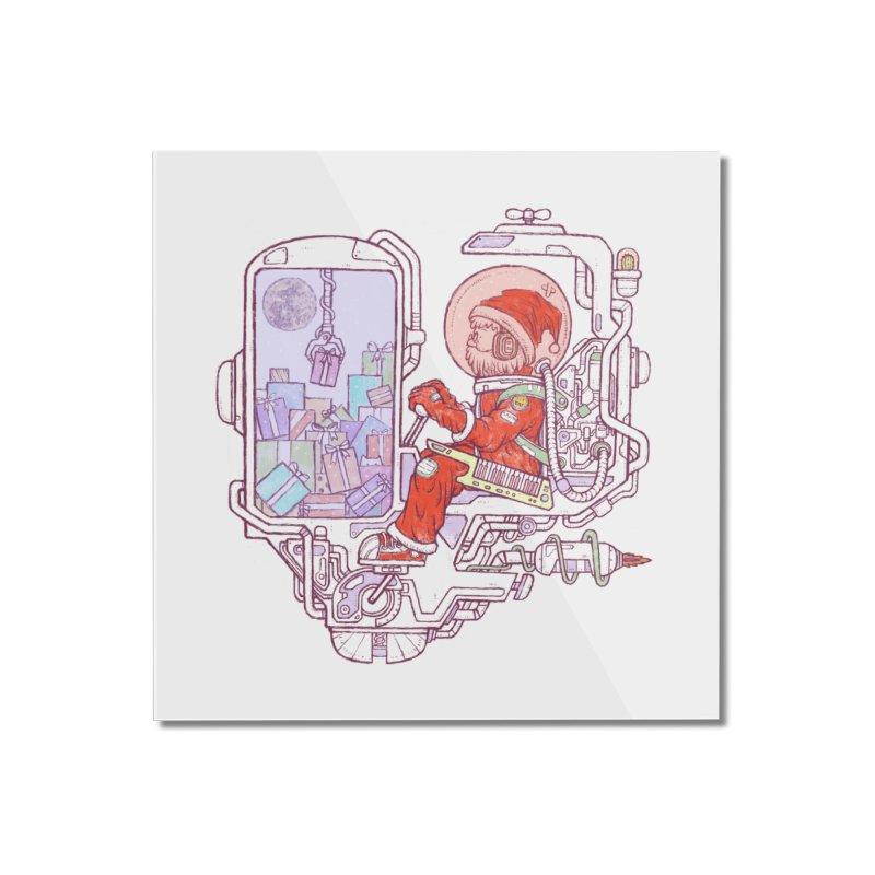 Santa space suits Home Mounted Acrylic Print by makapa's Artist Shop