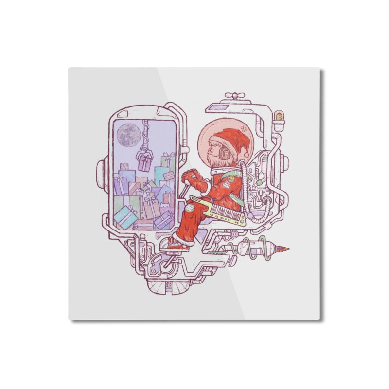 Santa space suits Home Mounted Aluminum Print by makapa's Artist Shop