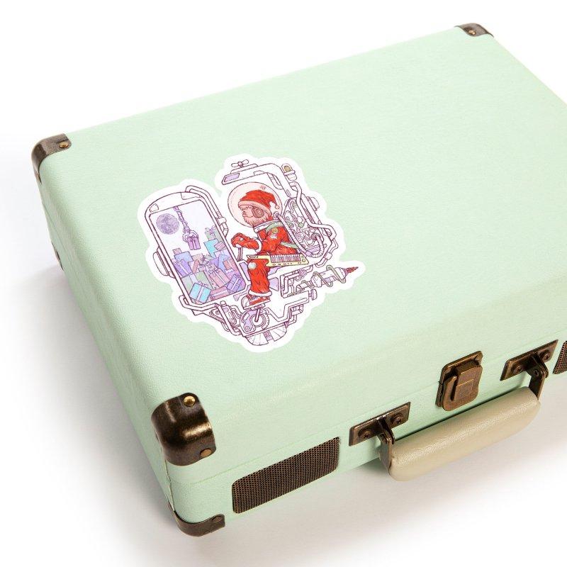 Santa space suits Accessories Sticker by makapa's Artist Shop