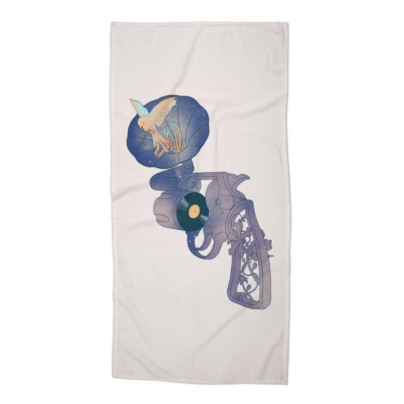 gun of citizen Accessories Beach Towel by makapa's Artist Shop