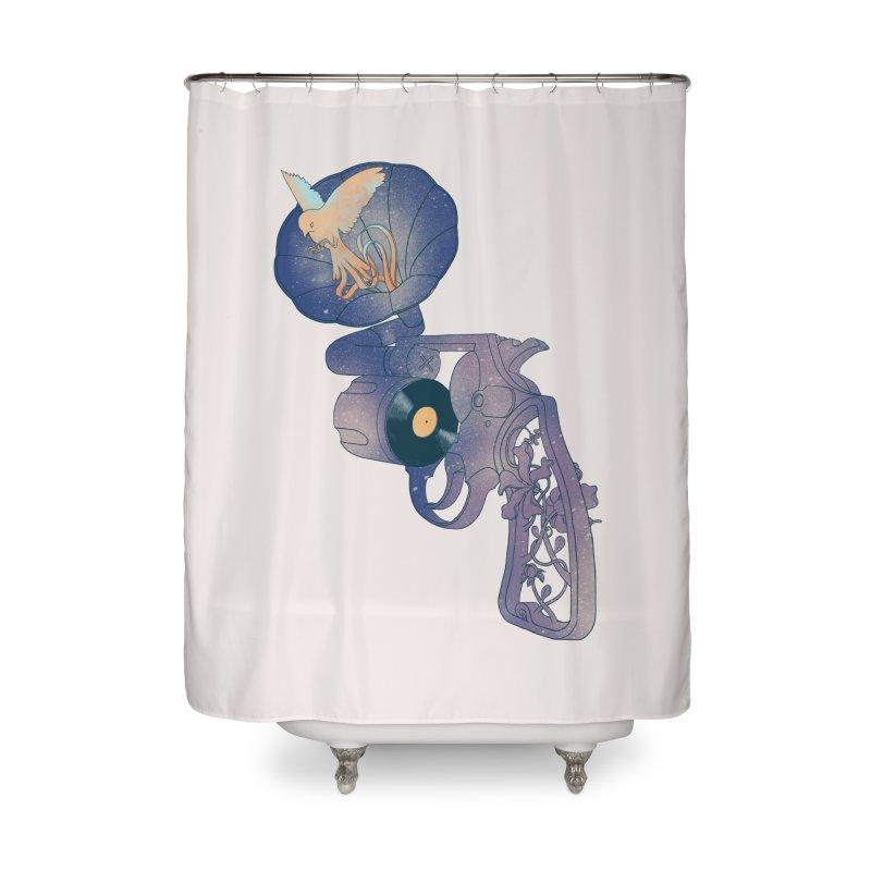 gun of citizen Home Shower Curtain by makapa's Artist Shop