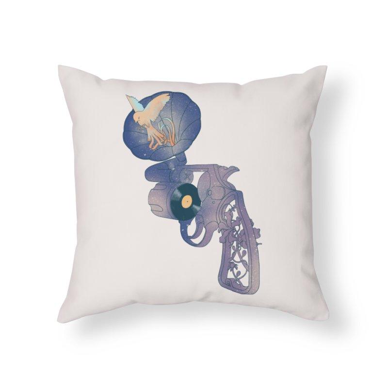 gun of citizen Home Throw Pillow by makapa's Artist Shop