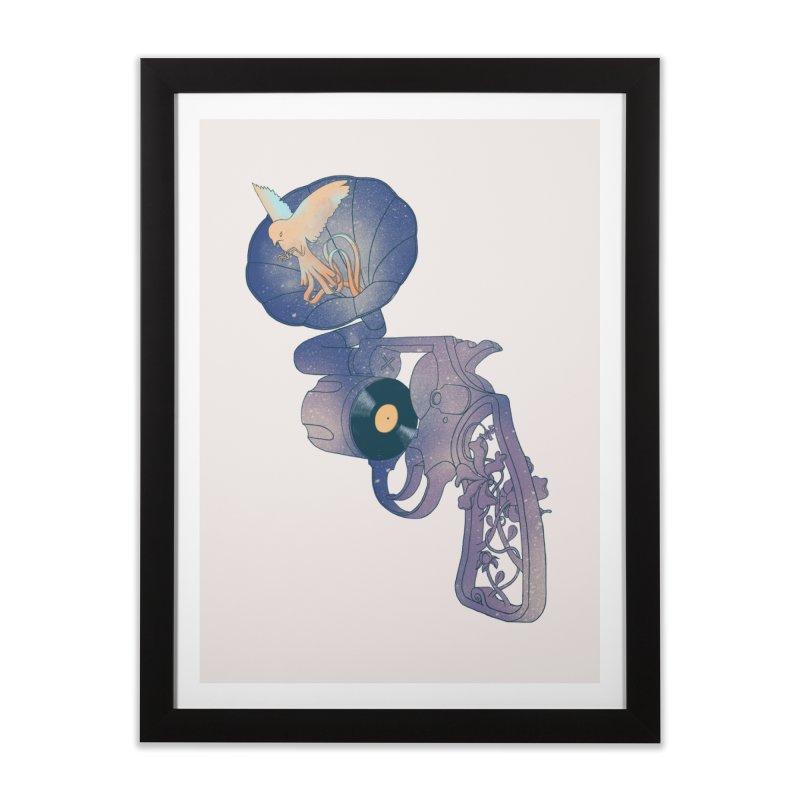 gun of citizen Home Framed Fine Art Print by makapa's Artist Shop