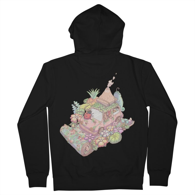 i love adventure Women's French Terry Zip-Up Hoody by makapa's Artist Shop