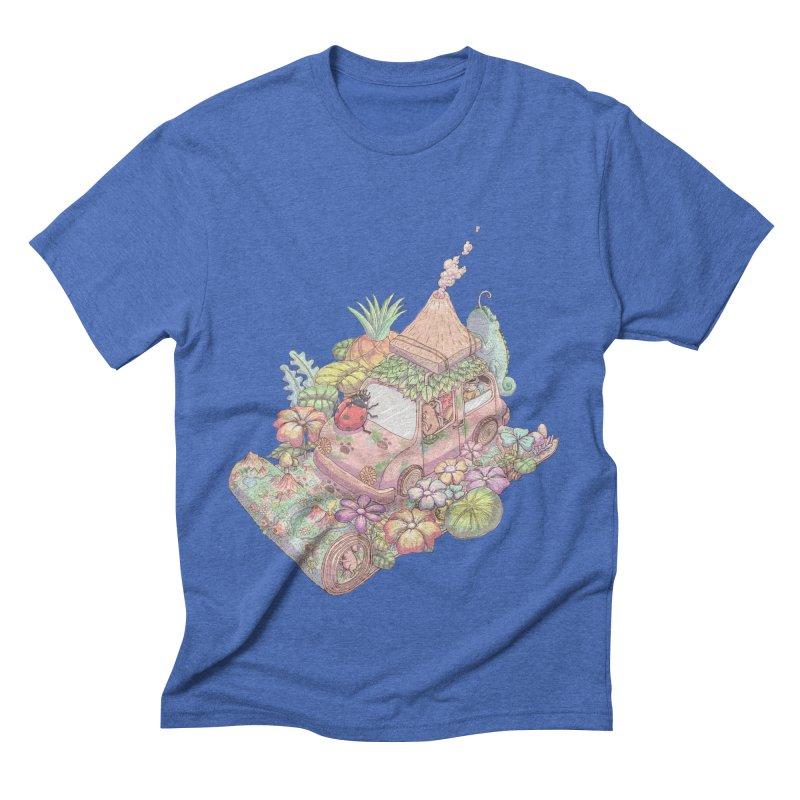 i love adventure Men's Triblend T-shirt by makapa's Artist Shop