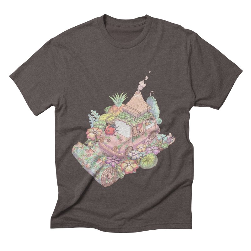i love adventure Men's Triblend T-Shirt by makapa's Artist Shop