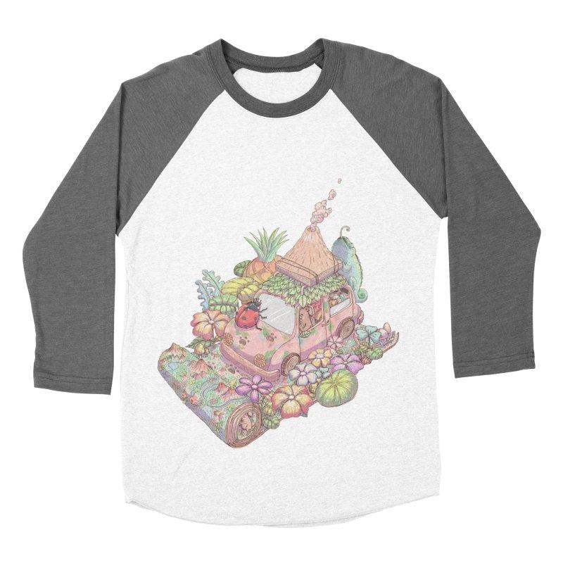 i love adventure Women's Baseball Triblend T-Shirt by makapa's Artist Shop
