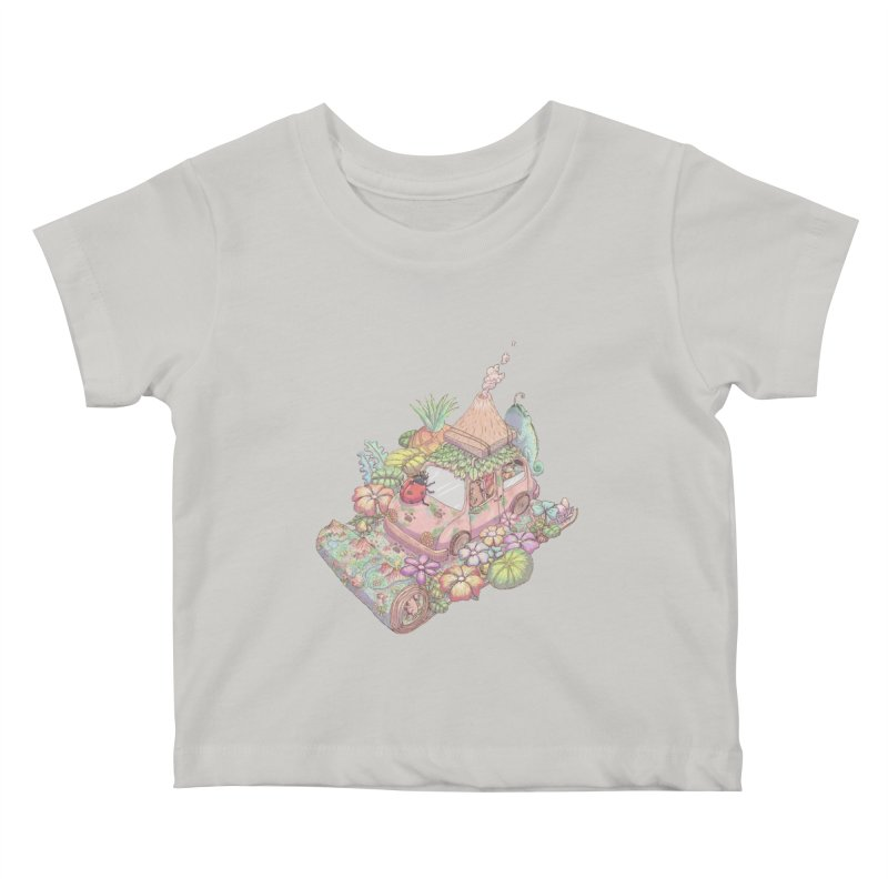 i love adventure Kids Baby T-Shirt by makapa's Artist Shop