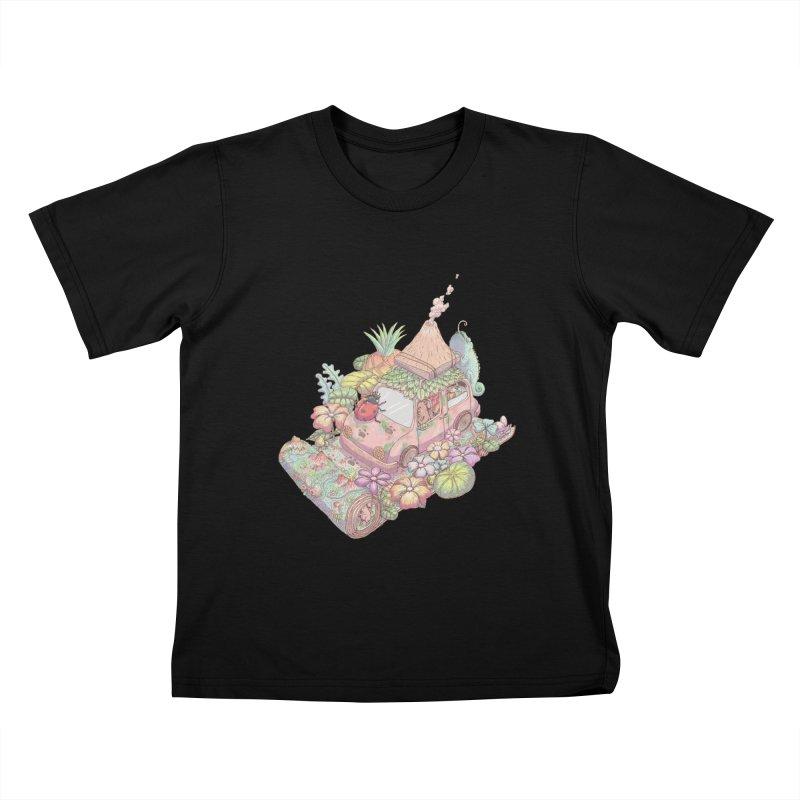 i love adventure Kids T-shirt by makapa's Artist Shop