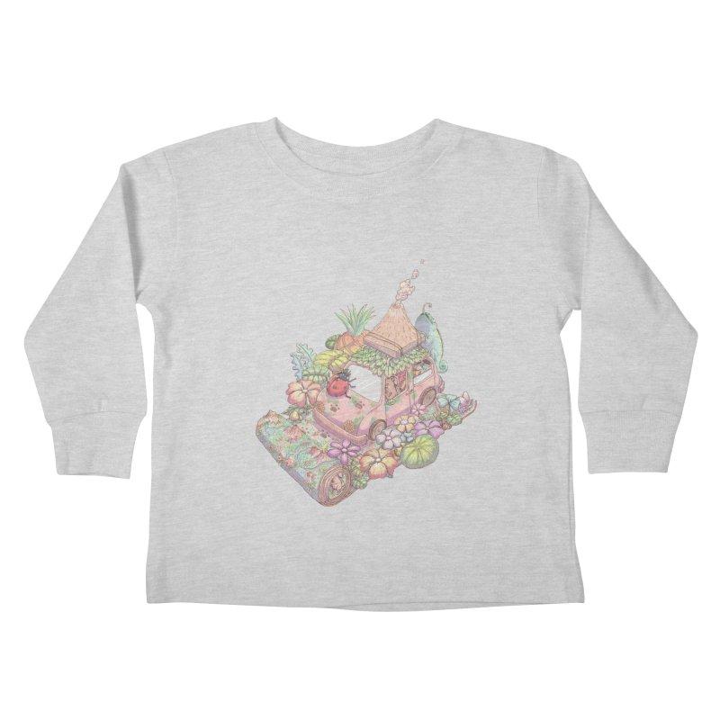 i love adventure Kids Toddler Longsleeve T-Shirt by makapa's Artist Shop
