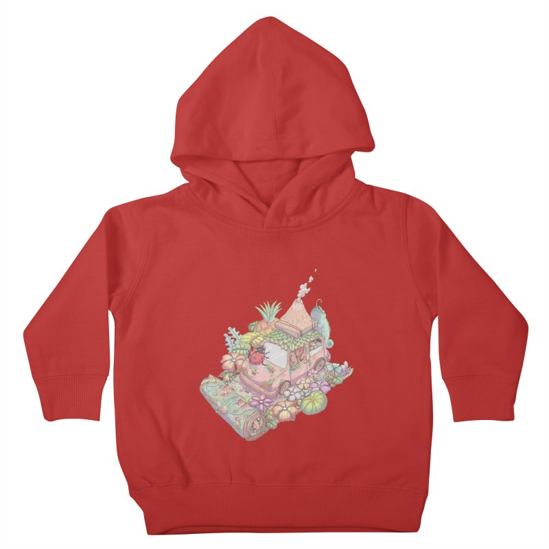 i love adventure Kids Toddler Pullover Hoody by makapa's Artist Shop