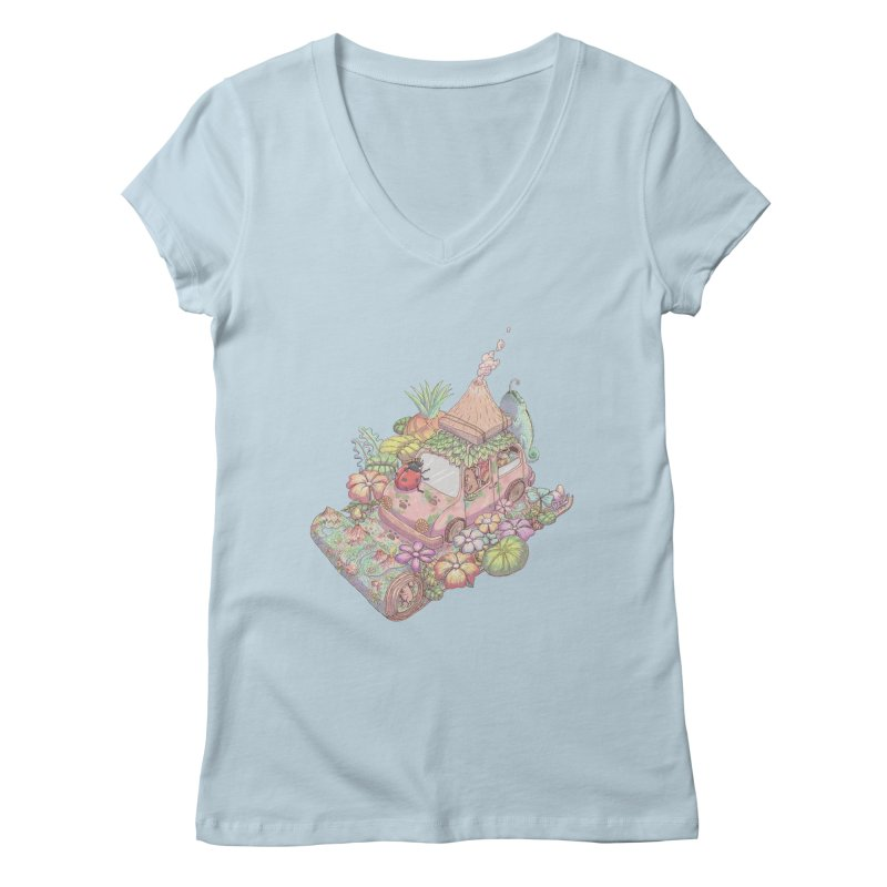 i love adventure Women's V-Neck by makapa's Artist Shop