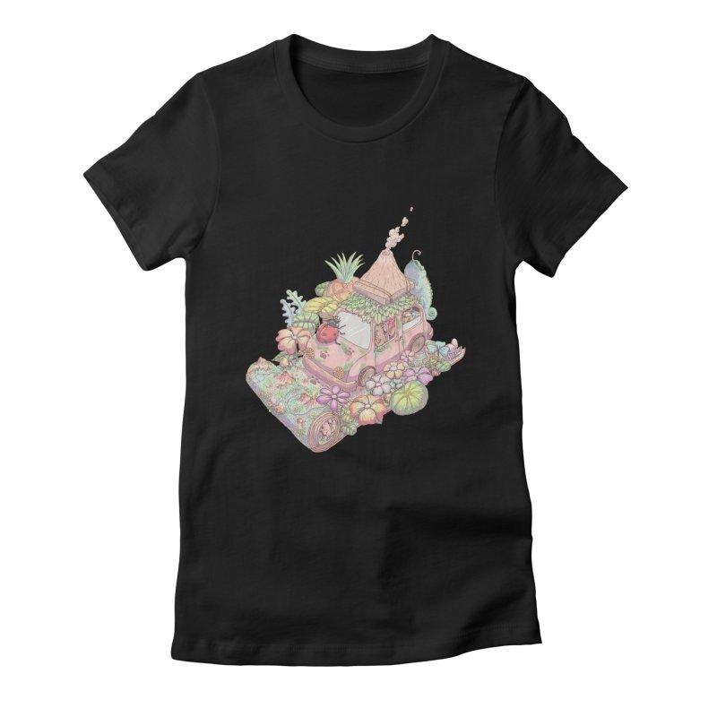 i love adventure Women's Fitted T-Shirt by makapa's Artist Shop