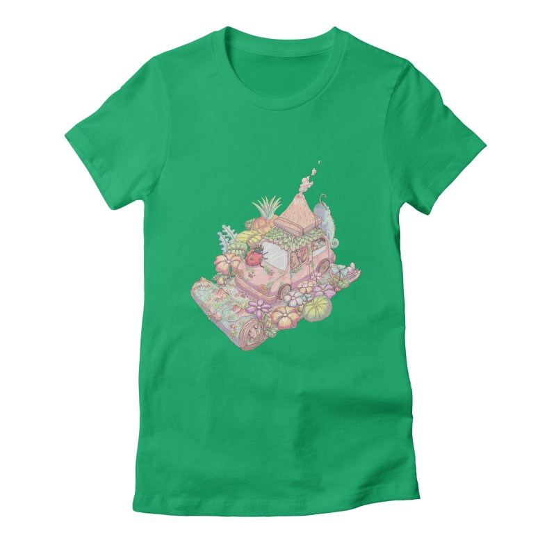 i love adventure Women's Fitted T-Shirt by makapa's Artist Shop