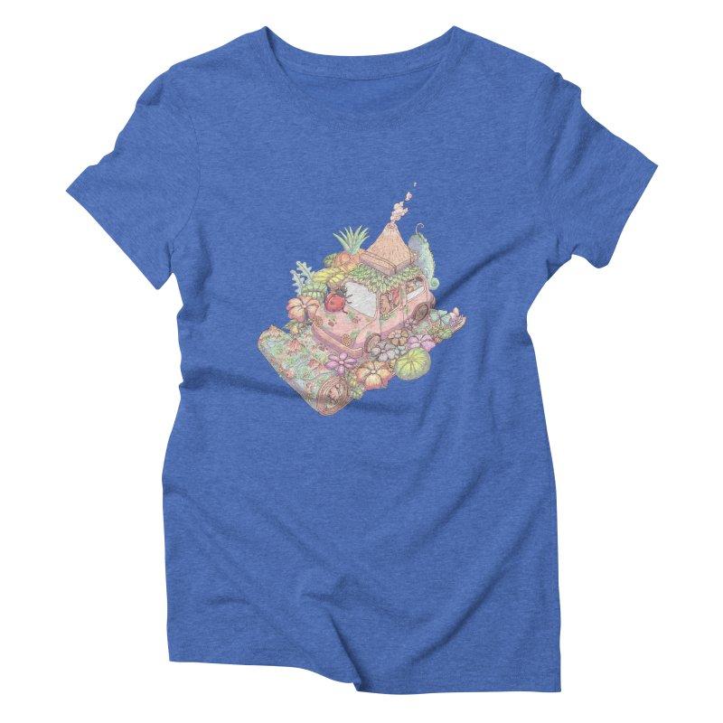 i love adventure Women's Triblend T-Shirt by makapa's Artist Shop