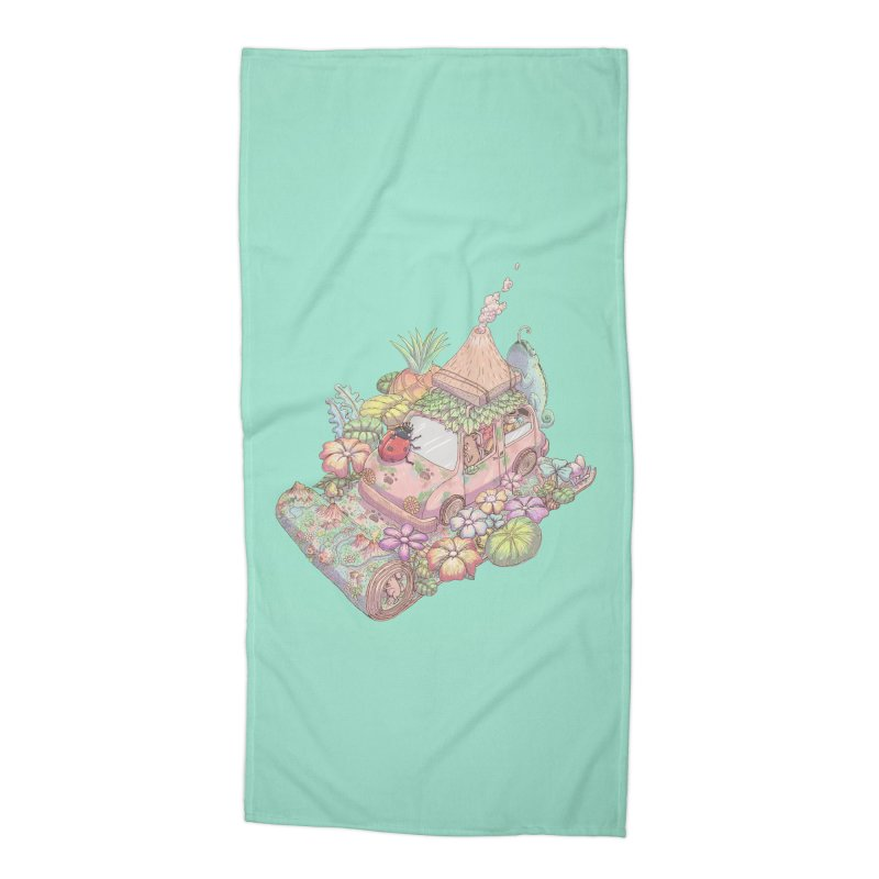 i love adventure Accessories Beach Towel by makapa's Artist Shop