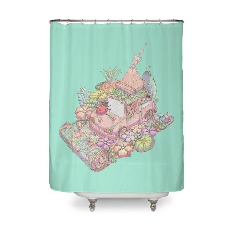 i love adventure Home Shower Curtain by makapa's Artist Shop