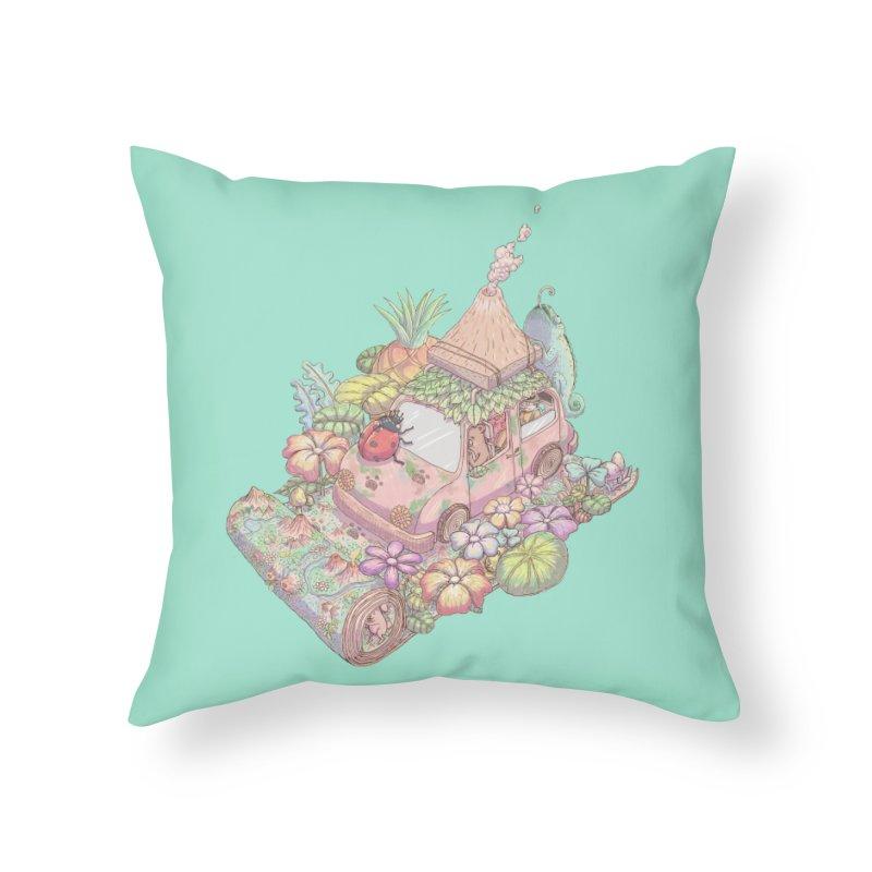 i love adventure Home Throw Pillow by makapa's Artist Shop