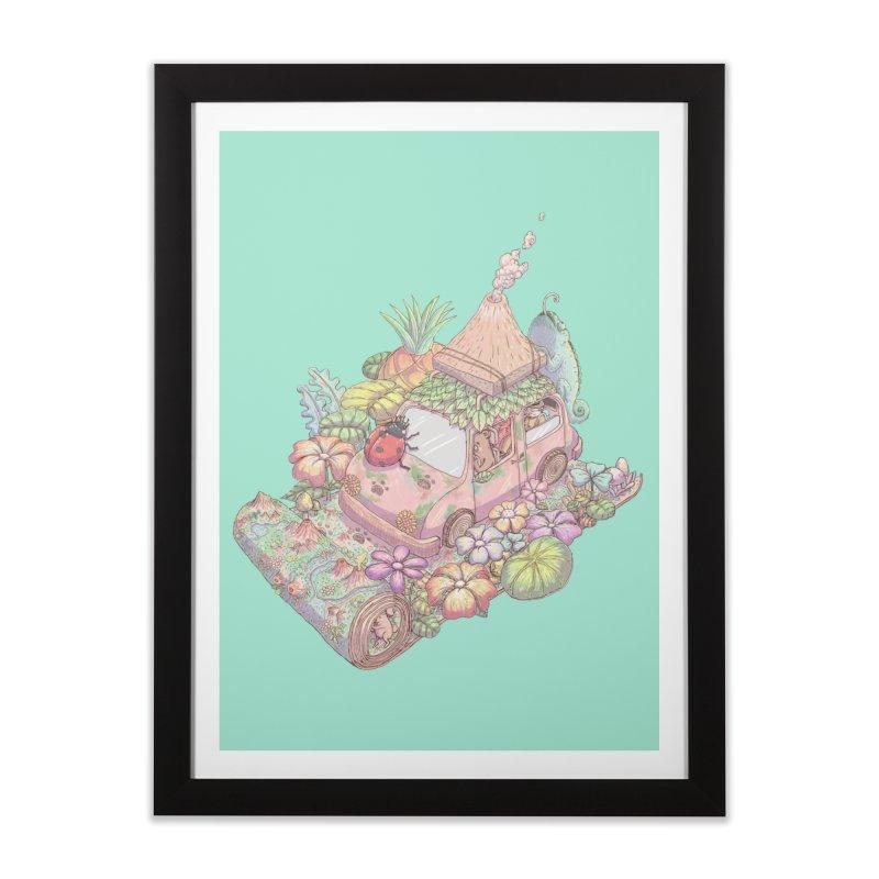 i love adventure Home Framed Fine Art Print by makapa's Artist Shop