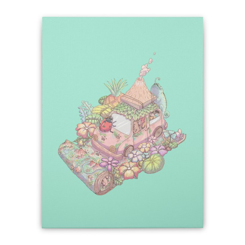 i love adventure Home Stretched Canvas by makapa's Artist Shop