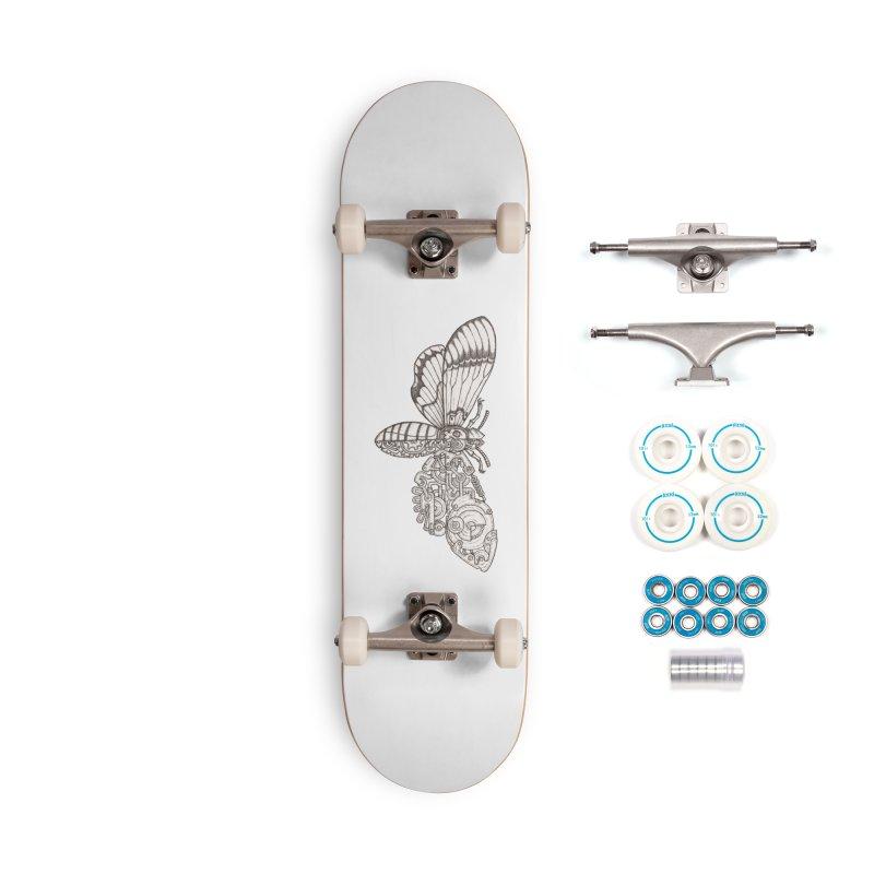 death head moth sci-fi Accessories Complete - Basic Skateboard by makapa's Artist Shop