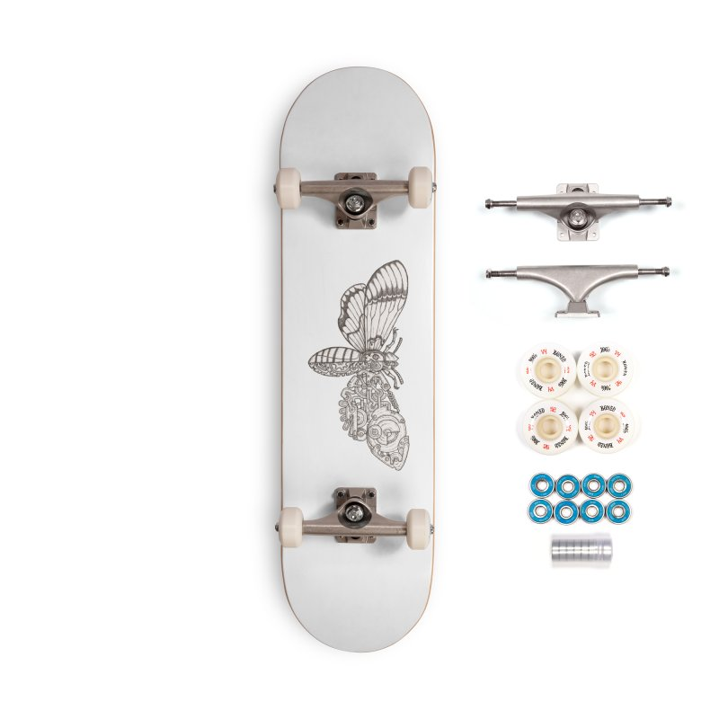 death head moth sci-fi Accessories Complete - Premium Skateboard by makapa's Artist Shop