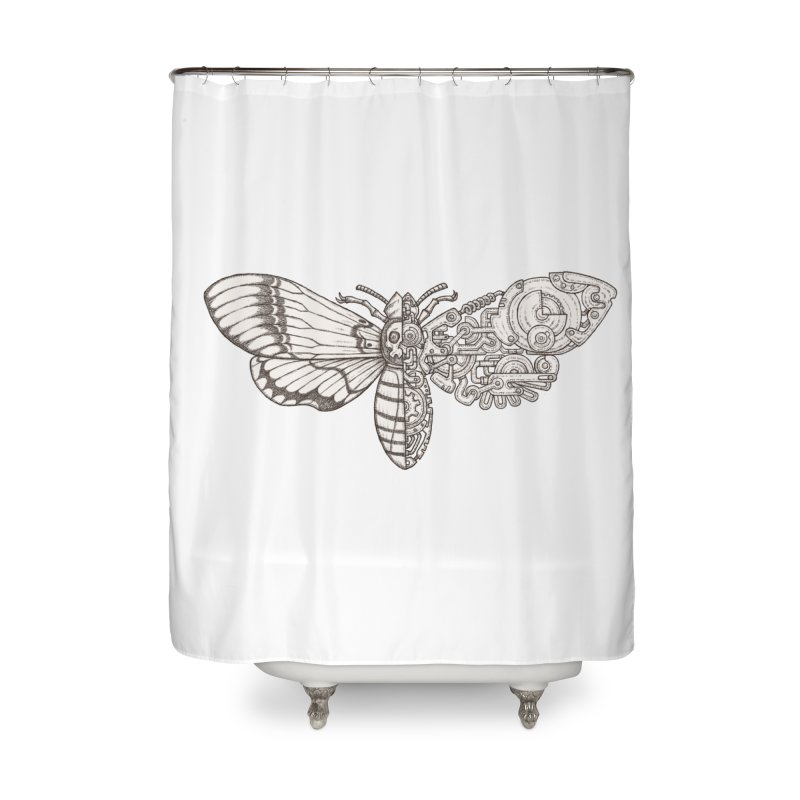 death head moth sci-fi Home Shower Curtain by makapa's Artist Shop