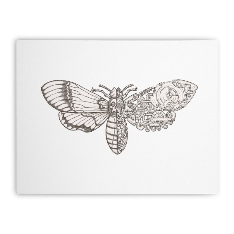 death head moth sci-fi Home Stretched Canvas by makapa's Artist Shop