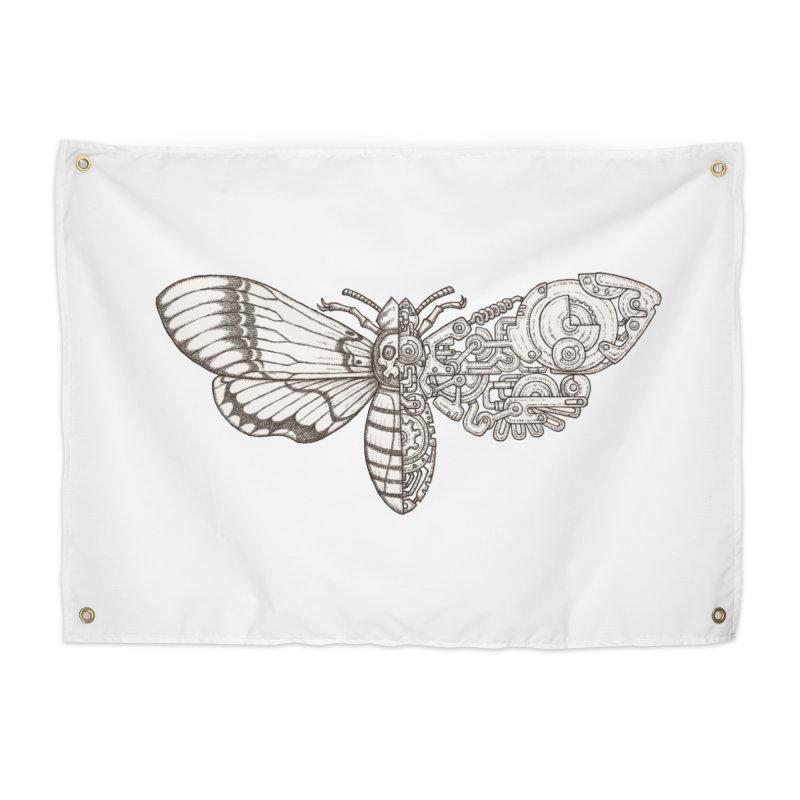 death head moth sci-fi Home Tapestry by makapa's Artist Shop