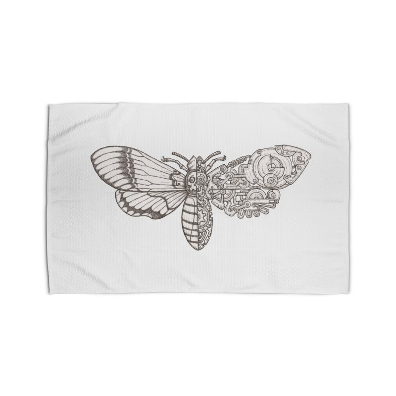 death head moth sci-fi Home Rug by makapa's Artist Shop