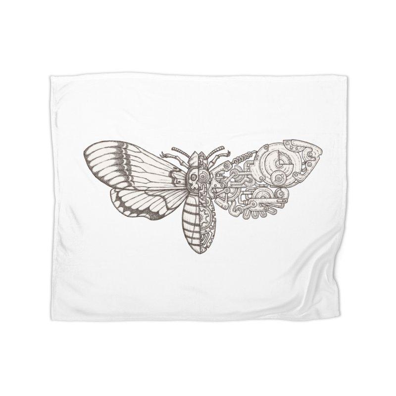 death head moth sci-fi Home Fleece Blanket Blanket by makapa's Artist Shop