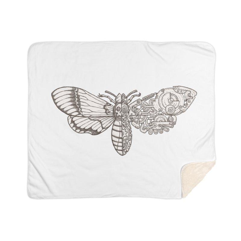 death head moth sci-fi Home Sherpa Blanket Blanket by makapa's Artist Shop