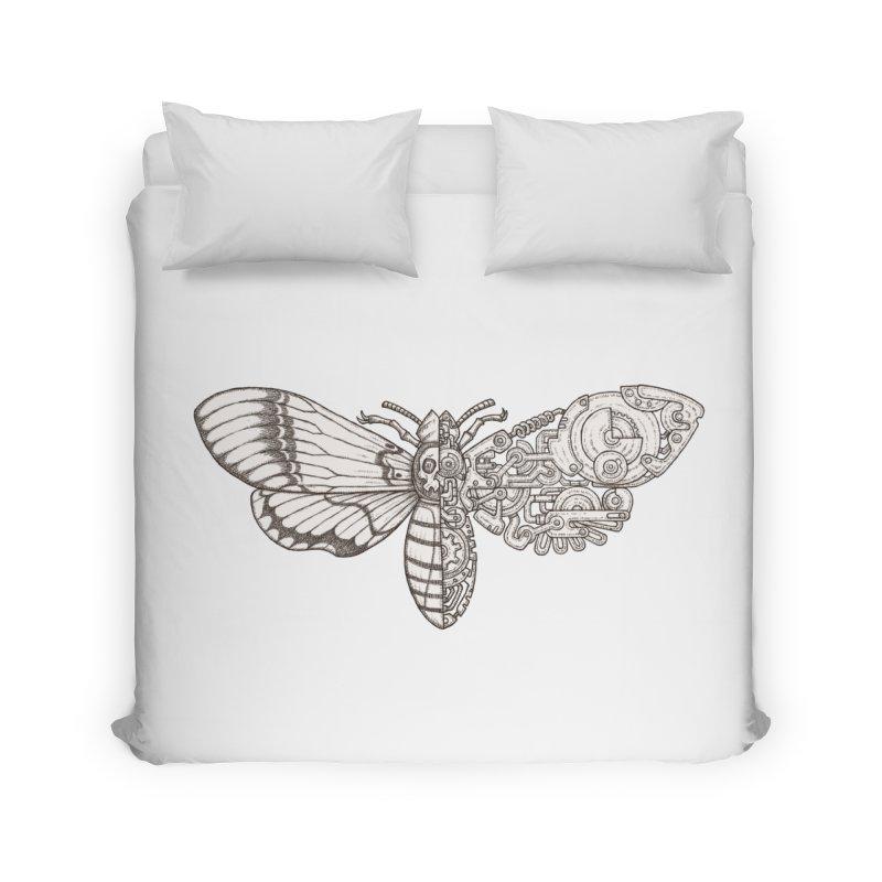 death head moth sci-fi Home Duvet by makapa's Artist Shop