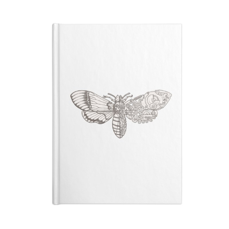 death head moth sci-fi Accessories Lined Journal Notebook by makapa's Artist Shop