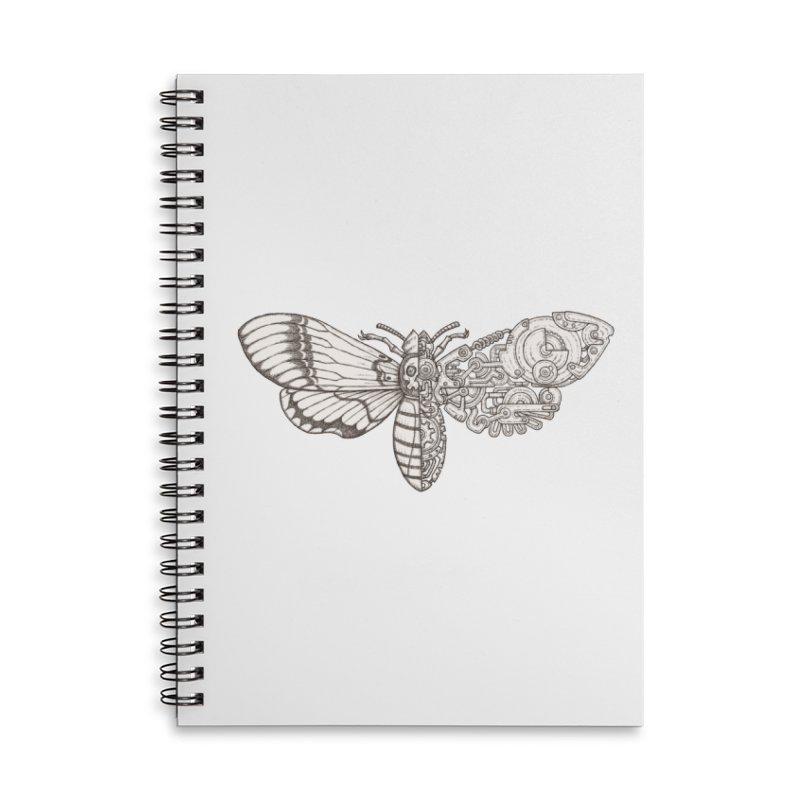 death head moth sci-fi Accessories Lined Spiral Notebook by makapa's Artist Shop