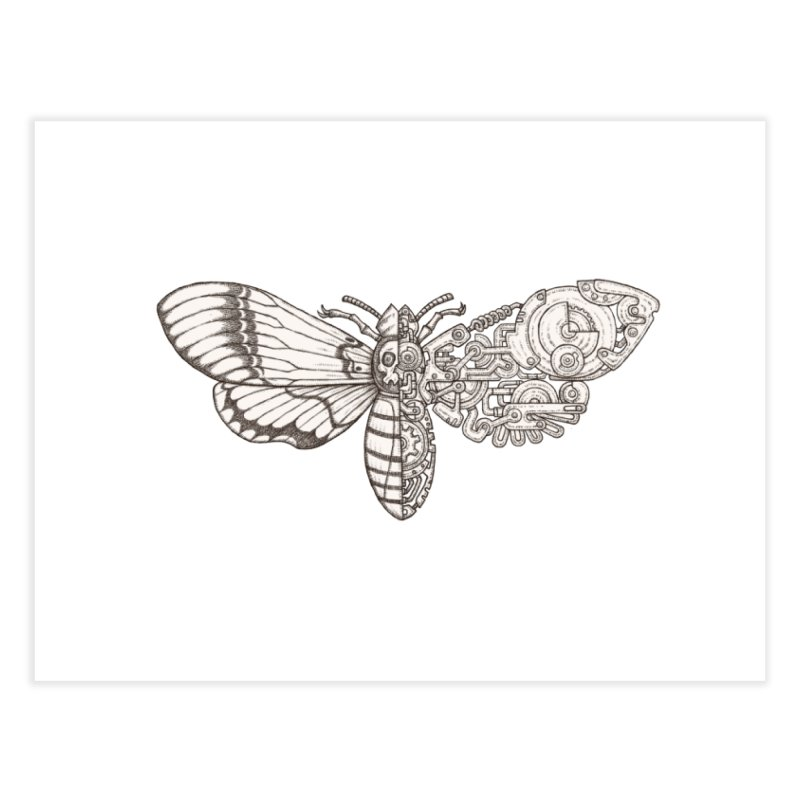 death head moth sci-fi Home Fine Art Print by makapa's Artist Shop