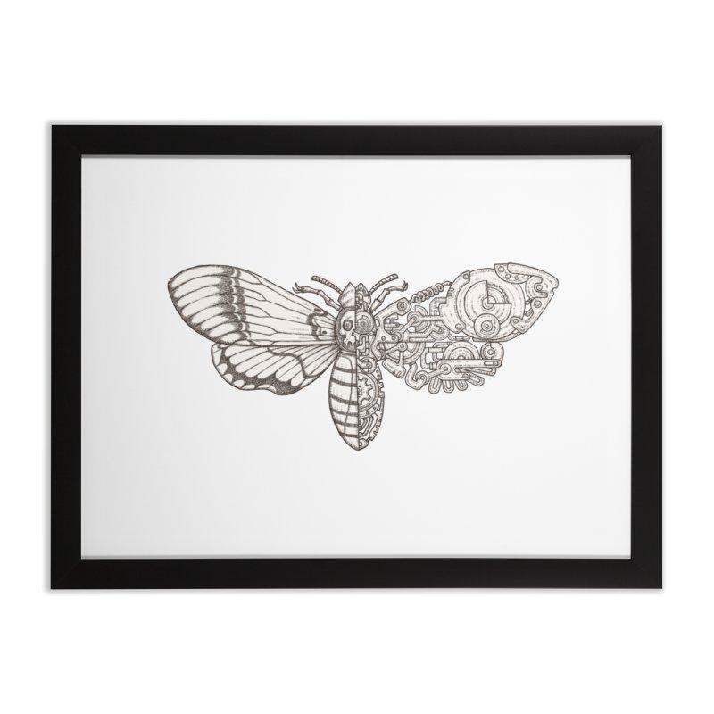 death head moth sci-fi Home Framed Fine Art Print by makapa's Artist Shop