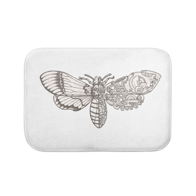 death head moth sci-fi Home Bath Mat by makapa's Artist Shop