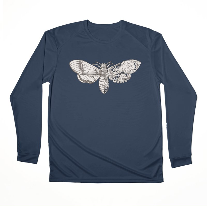 death head moth sci-fi Women's Performance Unisex Longsleeve T-Shirt by makapa's Artist Shop