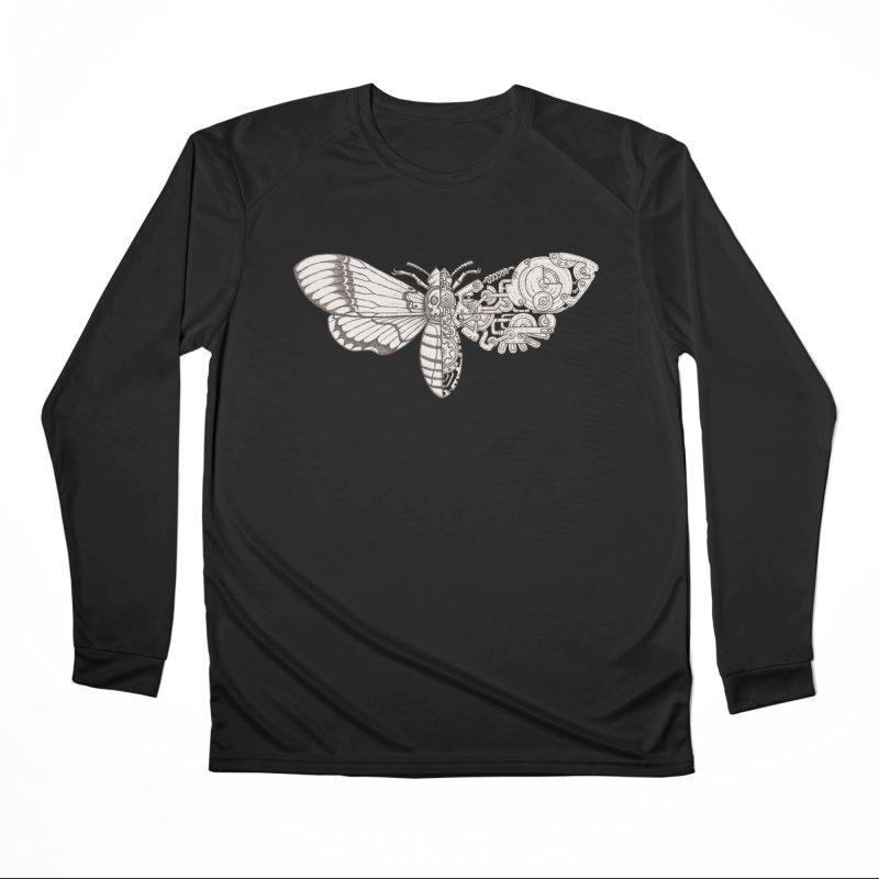 death head moth sci-fi Men's Performance Longsleeve T-Shirt by makapa's Artist Shop