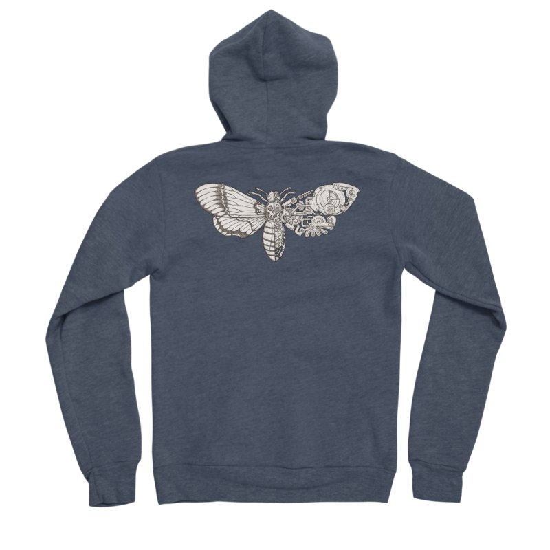 death head moth sci-fi Men's Sponge Fleece Zip-Up Hoody by makapa's Artist Shop