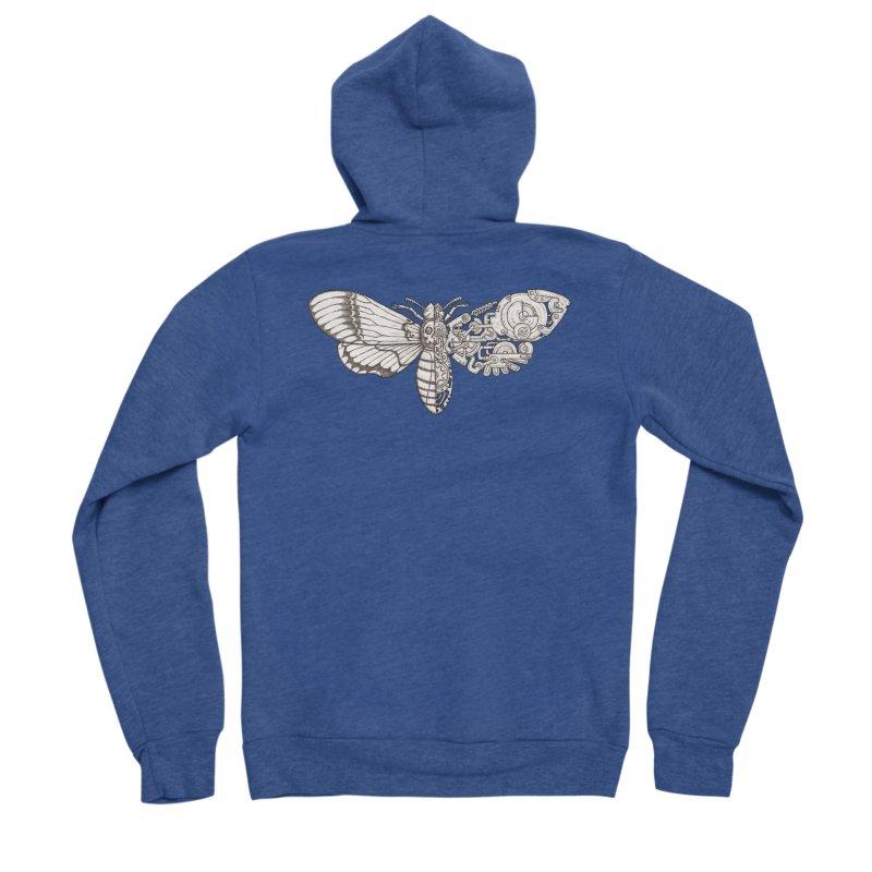 death head moth sci-fi Women's Sponge Fleece Zip-Up Hoody by makapa's Artist Shop
