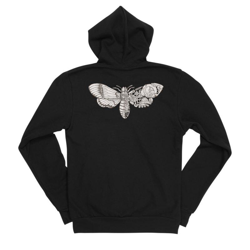 death head moth sci-fi Men's Sponge Fleece Zip-Up Hoody by makapa's Artist Shop